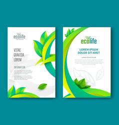 eco brochure design vector image