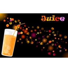 juice cocktail vector image vector image