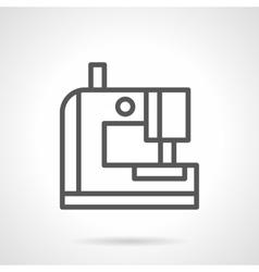 Portable sewing machine black line icon vector image