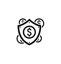 secure transactions icon flat design vector image