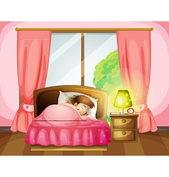 Sleeping firl vector image