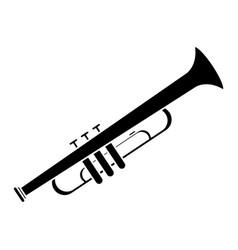 Trumpet musician instrument icon pictogram vector