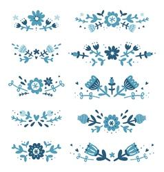 Decorative floral compositions set 2 vector