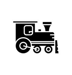 locomotive icon black sign vector image