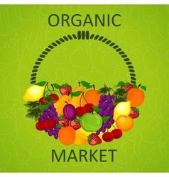 organic market vector image