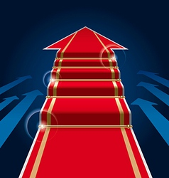 red carpet arrow vector image vector image