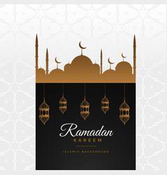 stylish ramadan kareem beautiful greeting vector image vector image