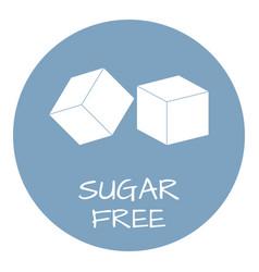 sugar free label food intolerance symbols vector image vector image