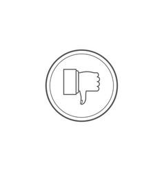 Thumbs down dislike hate or thumbs down dislike vector