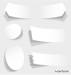 white of advertising coupons vector image