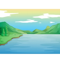 A river vector image vector image