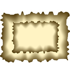 Abstract burnt paper vector image vector image