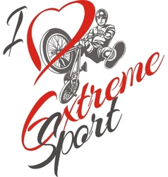 I love extreme sport bmx rider - vector