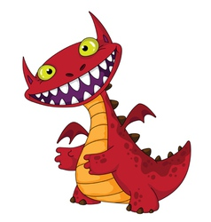 laughing dragon vector image vector image