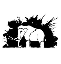 mammoth standing graphic vector image