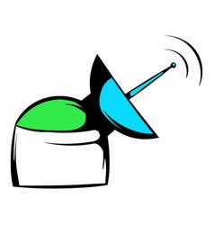 satellite communication station iconicon cartoon vector image