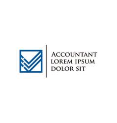 Accounting logo design financial vector