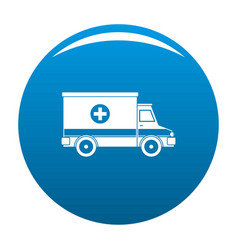 ambulance icon blue vector image