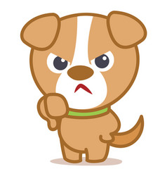 Angry dog cartoon vector