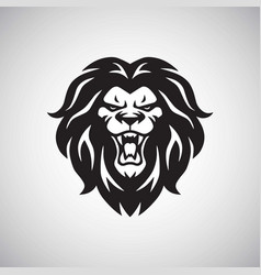 angry lion roaring logo vector image