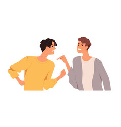 Angry men arguing and conflicting quarrel vector