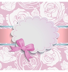 Beautiful card with a bow vector image vector image