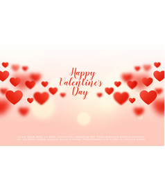 Beautiful hearts background with bokeh effect vector