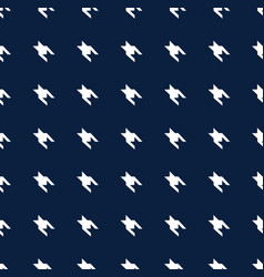 blue and white hounds tooth seamless pattern vector image