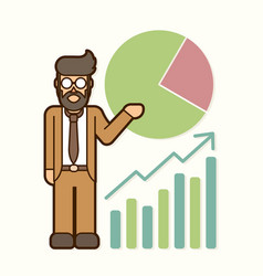 Businessman showing presentation cartoon vector