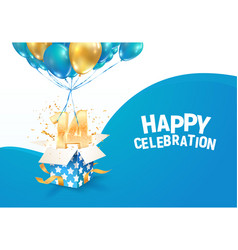 Celebrating 14 th years birthday vector