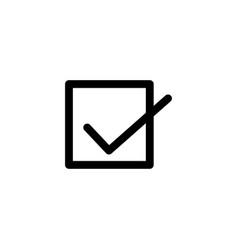 check box icon vector image