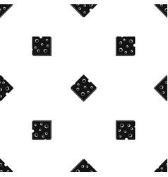 cheese fresh block pattern seamless black vector image