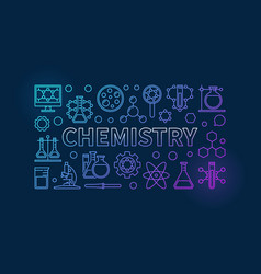 chemistry outline background vector image