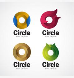 Circle logo gradient template design vector