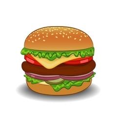 classic burger vector image