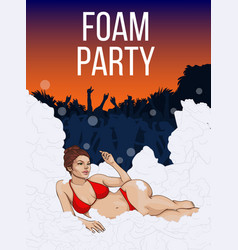 Colorful open air party poster vector