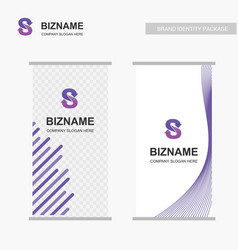 company ads banner unique design with s logo vector image