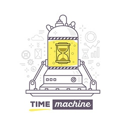 Creative professional mechanism of time w vector