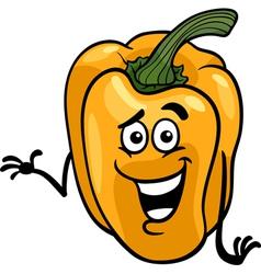 cute yellow pepper cartoon vector image