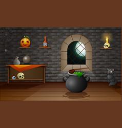 Decoration house of halloween vector