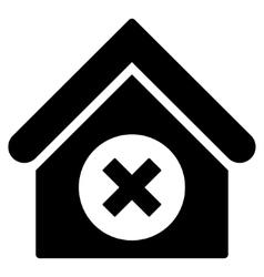 Delete Building Flat Icon vector