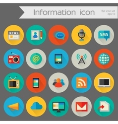 Detailed information icon set vector image