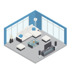dining room isometric composition vector image