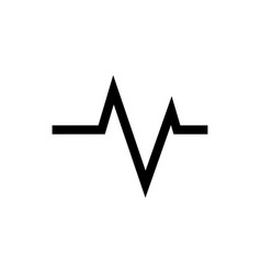Ecg wave - cardiogram symbol medical icon vector
