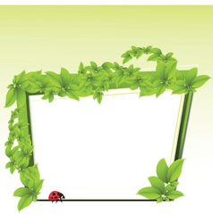 ecology border vector image