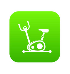 exercise bike icon digital green vector image