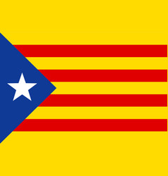 Flag of catalonia vector