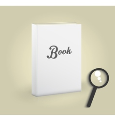 Front view blank book vector