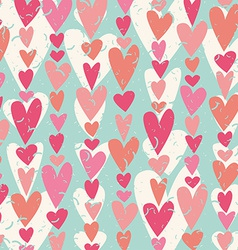 Heart shape pattern vector image