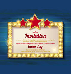 Invitation card template banners vector